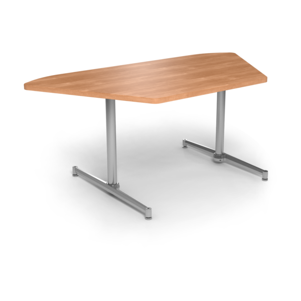 Cs 36X72 Table Th Trapezoid Honeymaple Silver 1220X1220