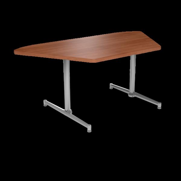 Cs 36X72 Table Th Trapezoid Oiledcherry Silver 1220X1220
