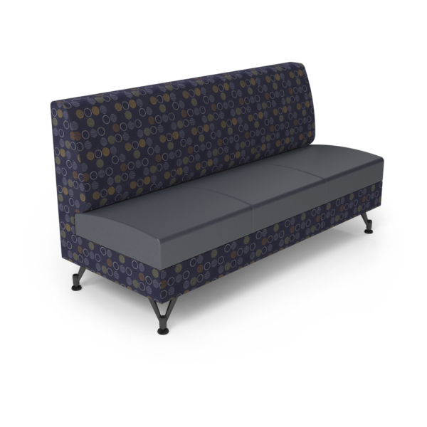 Center Stage Triple Seat. Amuse Admiral & Imperial Blue Vinyl