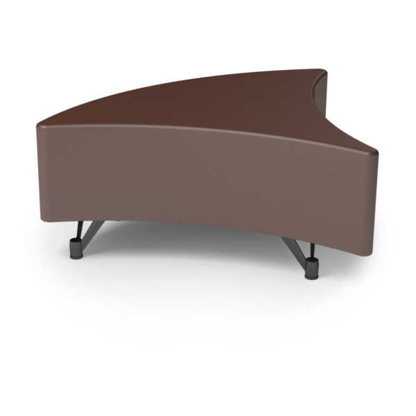 Center Stage Corner Wedge in Mocha Vinyl.
