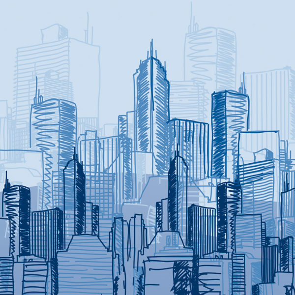 Mu Industrial Skyline Sketch 1220X1220