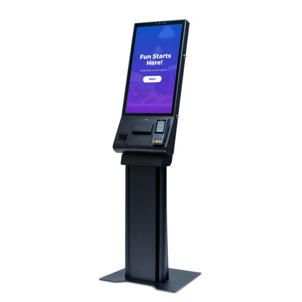 Sync service kiosk - 3/4 view